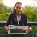 Mia wins June's Student of the Month