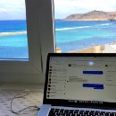 Remote work on a remote island