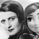 Who invented the fake Ayn Rand film review?