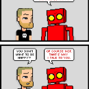 Tonight's comic thinks you'd be happier if you were nicer.