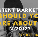 What is the risk for posting too much content?