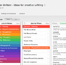 "Destroy Writers Block With ""Lists for Writers"" App"