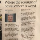 In some ways bowel cancer is the miner's canary signalling issues associated with the ageing if the…