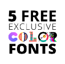 5 FREE color fonts by 5 FREE spirited minds