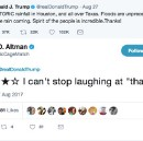 I've been rating Trump's tweets for a month and seriously, he's all over the place.