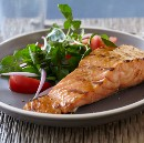 Salmon with Soy Maple Chilli