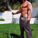 IS THAT A HOSE IN YOUR HANDS OR ARE YOU JUST HAPPY TO SEE ME ?????