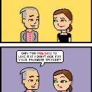 Tonight's comic wants to know if you listen to its podcast.