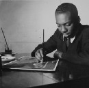 Watch: This young black painter made art history with his sparse, powerful vision