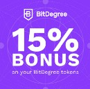 Don't miss out — claim a 15% bonus on your BitDegree tokens today!