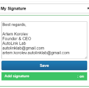 Automatically add your signature to manual LinkedIn messages