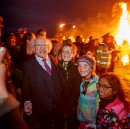 President Higgins Lights Bealtaine Fire on the Hill of Uisneach