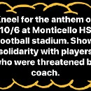 #TakeAKnee at Monticello High School in Charlottesville — CALL TO ACTION!