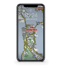 Custom iPhone wallpaper maps