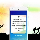 We have received thousands of heartfelt messages for our brave soldiers