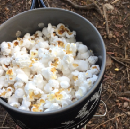 Backcountry popcorn on your backpacking stove!