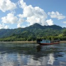 On a slow boat in the middle of the Mekong