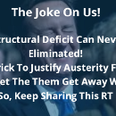 The Deficit & The Structural Deficit Cannot Be Eliminated; Even If We Have Austerity For 1000 Years…