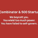 We Boycott Y Combinator and 500 Startups