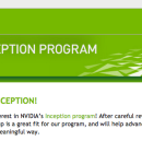Accepted into Nvidia's Inception program