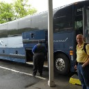 Friday 26 May – Boston to Montreal by Greyhound Bus (we were the oldest on it!)