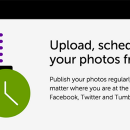 Schedule and share your photos to social media and photo galleries from one place.