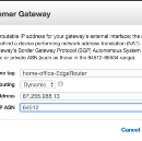 AWS VPC IPSEC site to site VPN using a Ubiquiti EdgeMax EdgeRouter with BGP routing