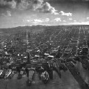"These early ""drone"" photographs were made with an amazing airborne rig"