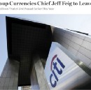 WSJ Report on Jeff Feig leaving Citigroup.