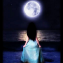 I am the moon and the moon is me.