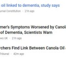 No Evidence of Canola Oil Causing Alzheimer's and Dementia