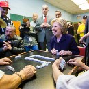 Behind-the-scenes photos from Hillary Clinton's day in East Harlem