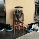 Building a Steampunk Cat Feeder with a Gmail-Triggered Raspberry Pi