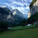 Lauterbrunnen, Switzerland was a picture of overwhelming beauty that was truly hard to take in.
