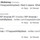Amanda, @TrappedAtMyDesk on Twitter, Dies, Age Unknown