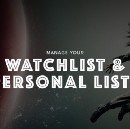 Manage your watchlist & personal lists