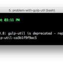 The Problem with gulp-util