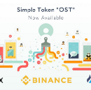 """$OST News: Simple Token, """"OST"""" now available for purchase on 3 of the top 5 global crypto exchanges"""