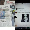 Social Medias effects on Newspapers and Magazines and their Reporters.