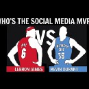 Measured by Social: LeBron James vs. Kevin Durant