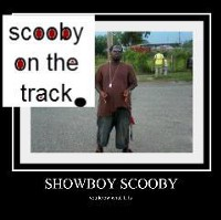 scooby on the track