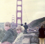 My brother wore plaid pants to the Golden Gate Bridge