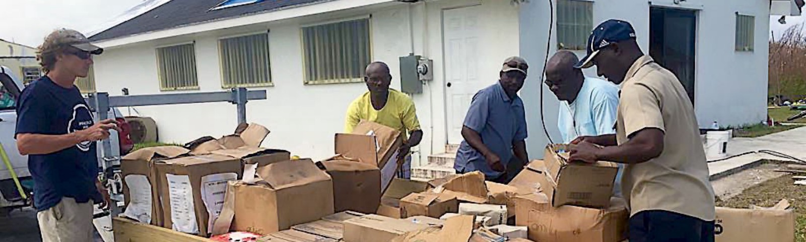 OpenWorld Relief donation delivery after 2019 Hurricane Dorian in The Bahamas