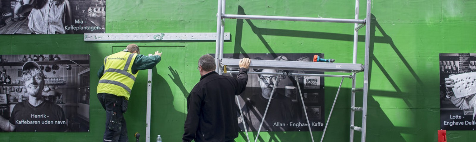 Mounting of the pictures, The Enghave Portraits Project, Robert Thomason, madaboutcopenhagen