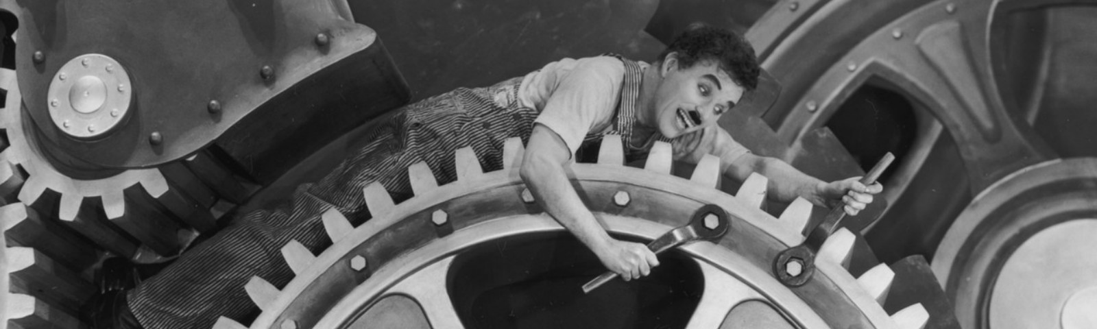 Charlie Chaplin's Modern Times criticized the propensity of industry to rule over humanity.