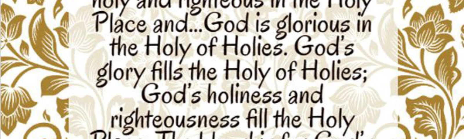 """In order to stand before the Lord, it is necessary """"to present to Me the fat and the blood"""" (Ezek. 44:15)....God is holy and righteous in the Holy Place and...God is glorious in the Holy of Holies. God's glory fills the Holy of Holies; God's holiness and righteousness fill the Holy Place. The blood is for God's holiness and righteousness, while the fat is for His glory. The fat is for God to gain something, while the blood deals with God's holiness and righteousness....The blood deals with sin....The fat is the richest and best part, and it satisfies God's heart. Thus, it is for God's glory. Watchman Nee"""