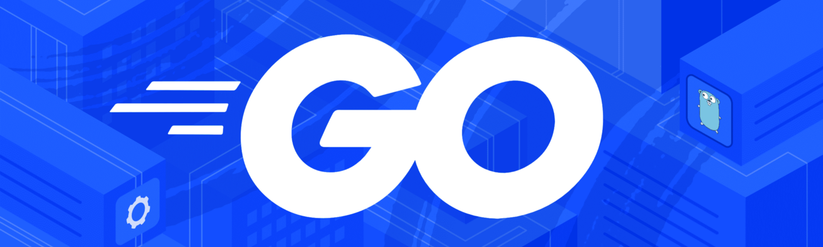 "The word ""Go"" in white letters against a blue background"