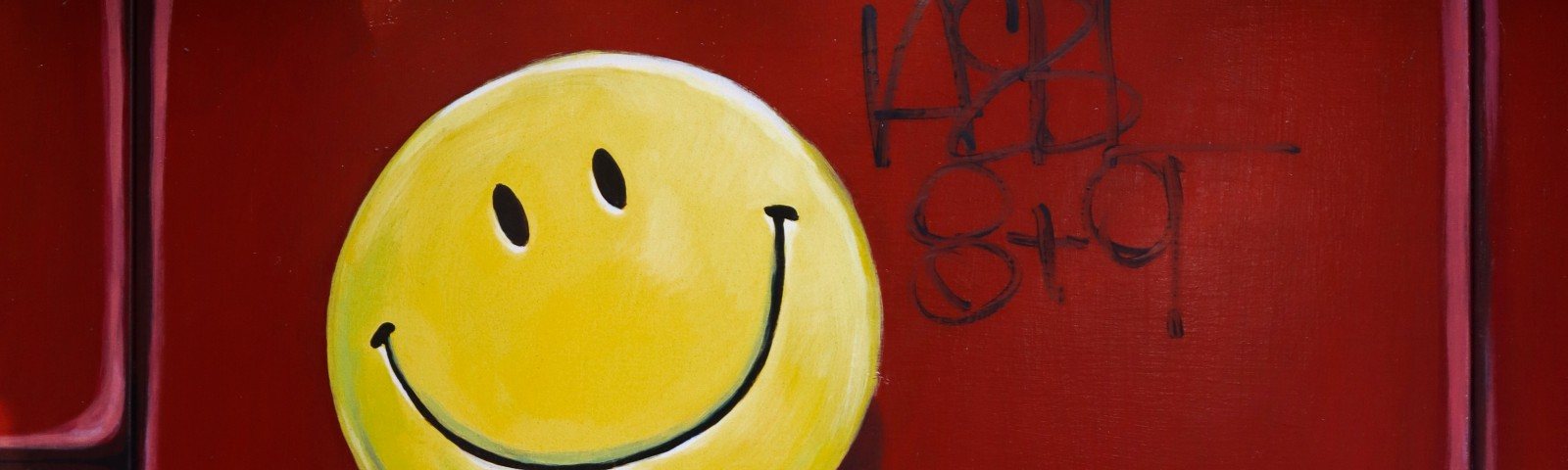 smile faces on wall