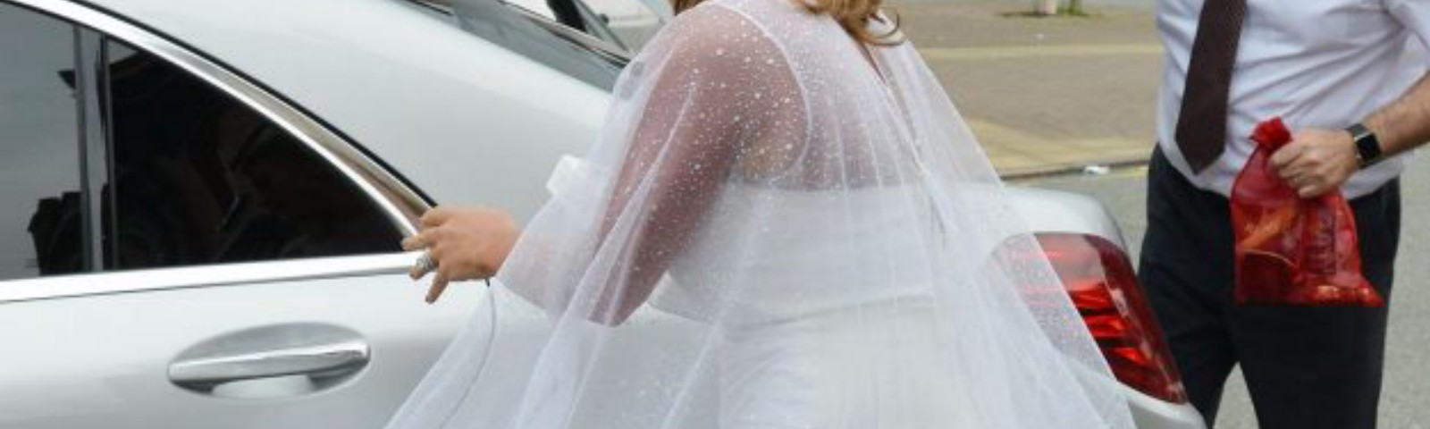 Coleen Rooney wears white dress to 30th birthday in Cheshire