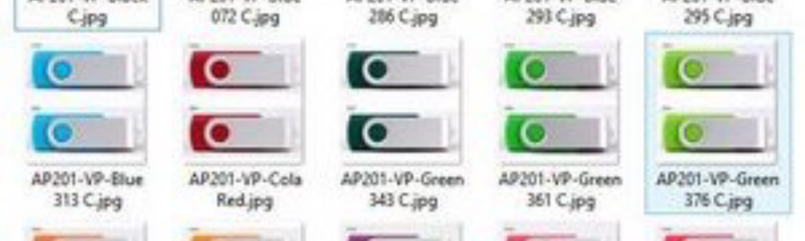 Picture of AP201 Twister Key USB Drives.
